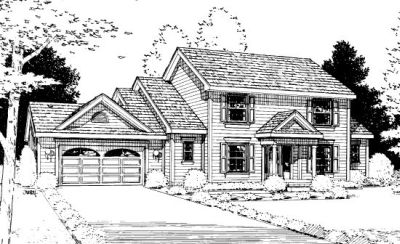 Traditional Style Home Design Plan: 10-898