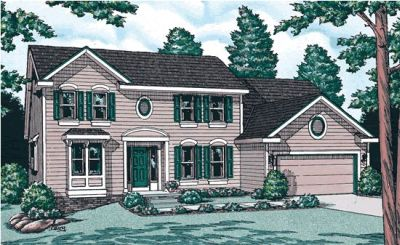 Traditional Style Home Design Plan: 10-900