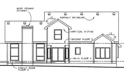 Rear Elevation Plan: 10-900