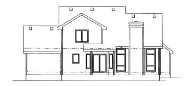 Rear Elevation Plan: 10-901