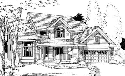 Traditional Style Home Design Plan: 10-905