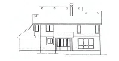 Rear Elevation Plan: 10-905