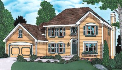 Traditional Style Home Design Plan: 10-906