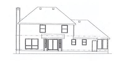 Rear Elevation Plan: 10-906