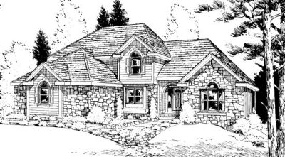 Traditional Style Home Design Plan: 10-907