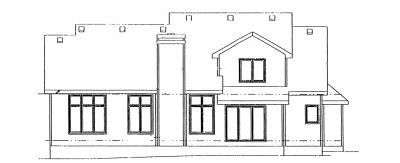 Rear Elevation Plan: 10-908