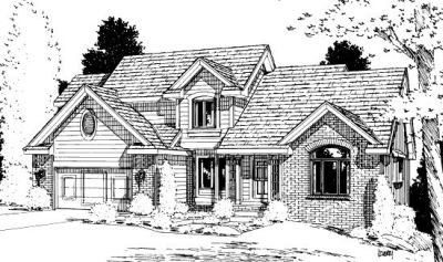 Traditional Style Home Design Plan: 10-909