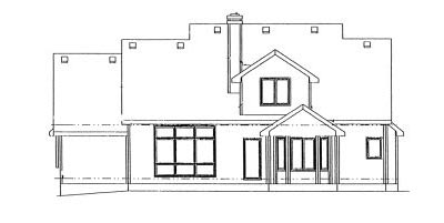 Rear Elevation Plan: 10-909