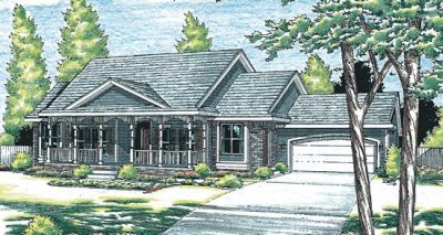 Traditional Style Home Design Plan: 10-911
