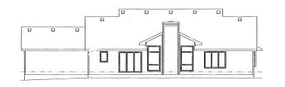 Rear Elevation Plan: 10-911