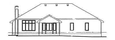 Rear Elevation Plan: 10-912