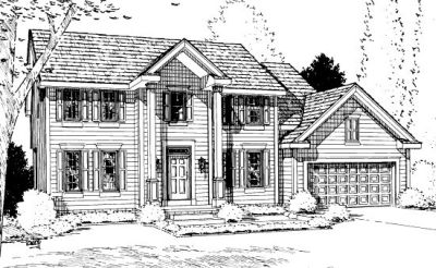 Colonial Style Floor Plans Plan: 10-915