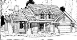 Country Style Home Design Plan: 10-917