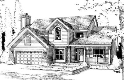 Traditional Style Home Design Plan: 10-918