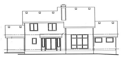 Rear Elevation Plan: 10-921