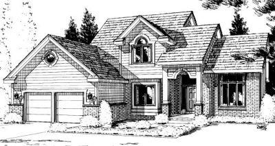 Traditional Style Home Design Plan: 10-923
