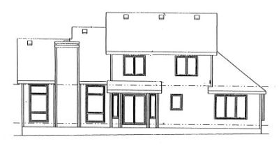 Rear Elevation Plan: 10-923