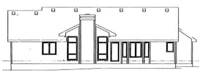 Rear Elevation Plan: 10-925