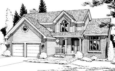 Traditional Style Home Design Plan: 10-926
