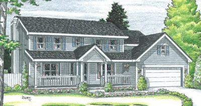 Country Style Home Design Plan: 10-927