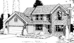 Traditional Style Home Design Plan: 10-928