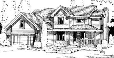 Traditional Style Home Design Plan: 10-929