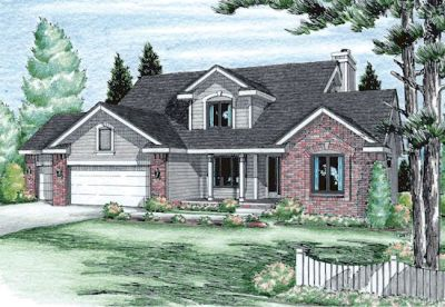 Country Style Home Design Plan: 10-931