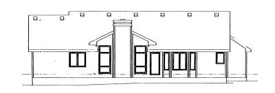 Rear Elevation Plan: 10-932
