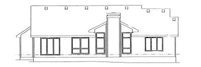 Rear Elevation Plan: 10-933