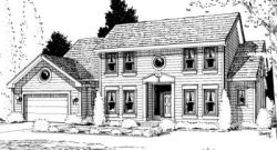 Early-American Style House Plans Plan: 10-937