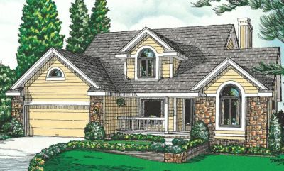Country Style Home Design Plan: 10-943
