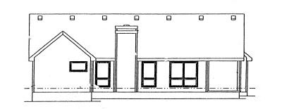 Rear Elevation Plan: 10-944