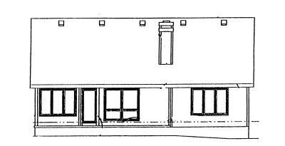 Rear Elevation Plan: 10-945