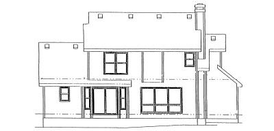 Rear Elevation Plan: 10-947