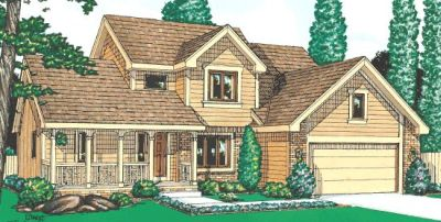 Traditional Style Home Design Plan: 10-950