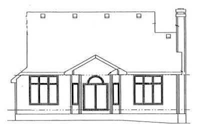Rear Elevation Plan: 10-951