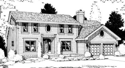 Early-american Style Home Design Plan: 10-952