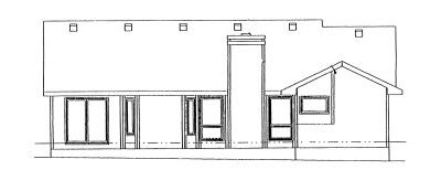Rear Elevation Plan: 10-954