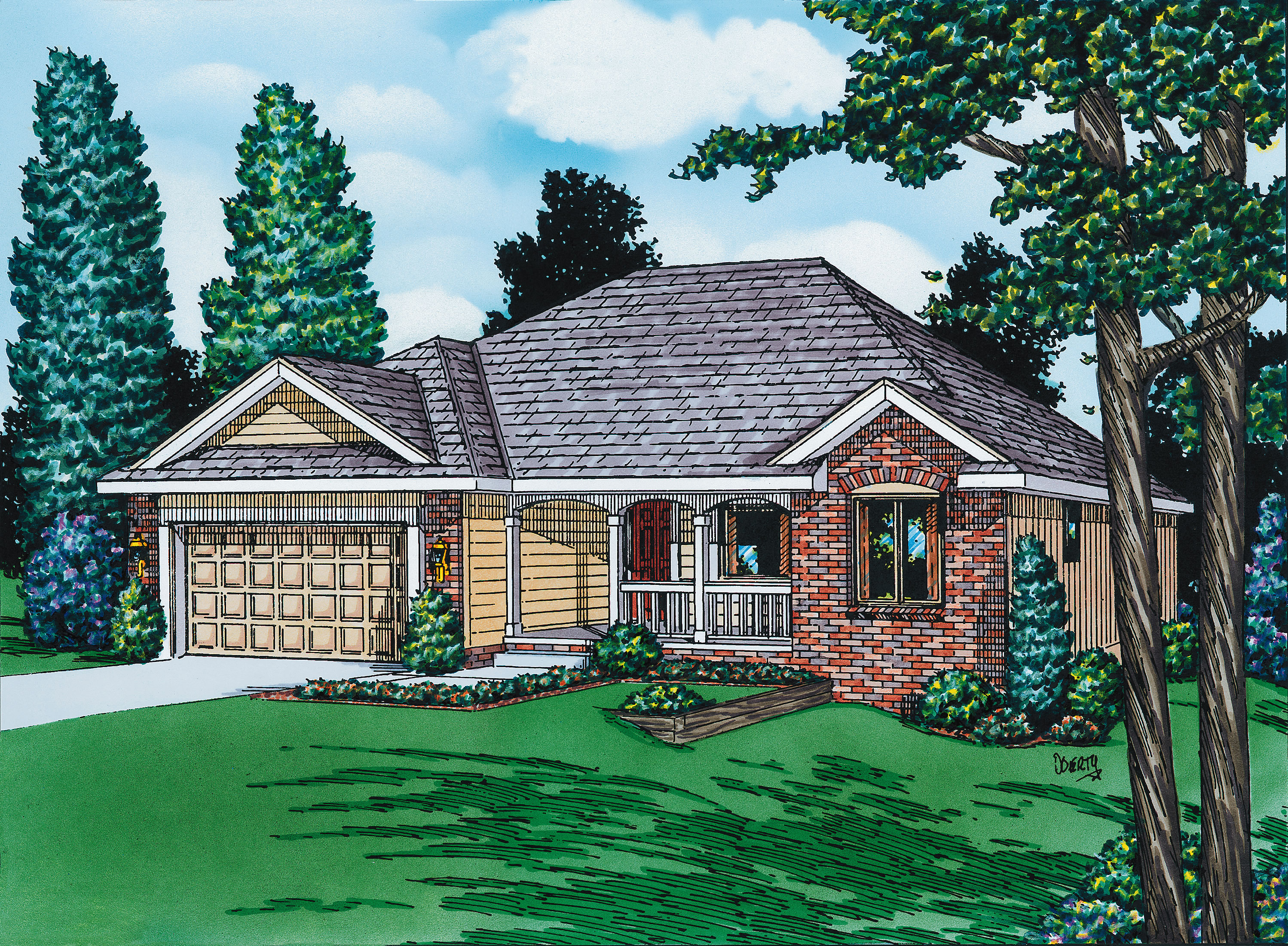 Traditional Style House Plans Plan: 10-956