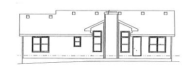 Rear Elevation Plan: 10-958