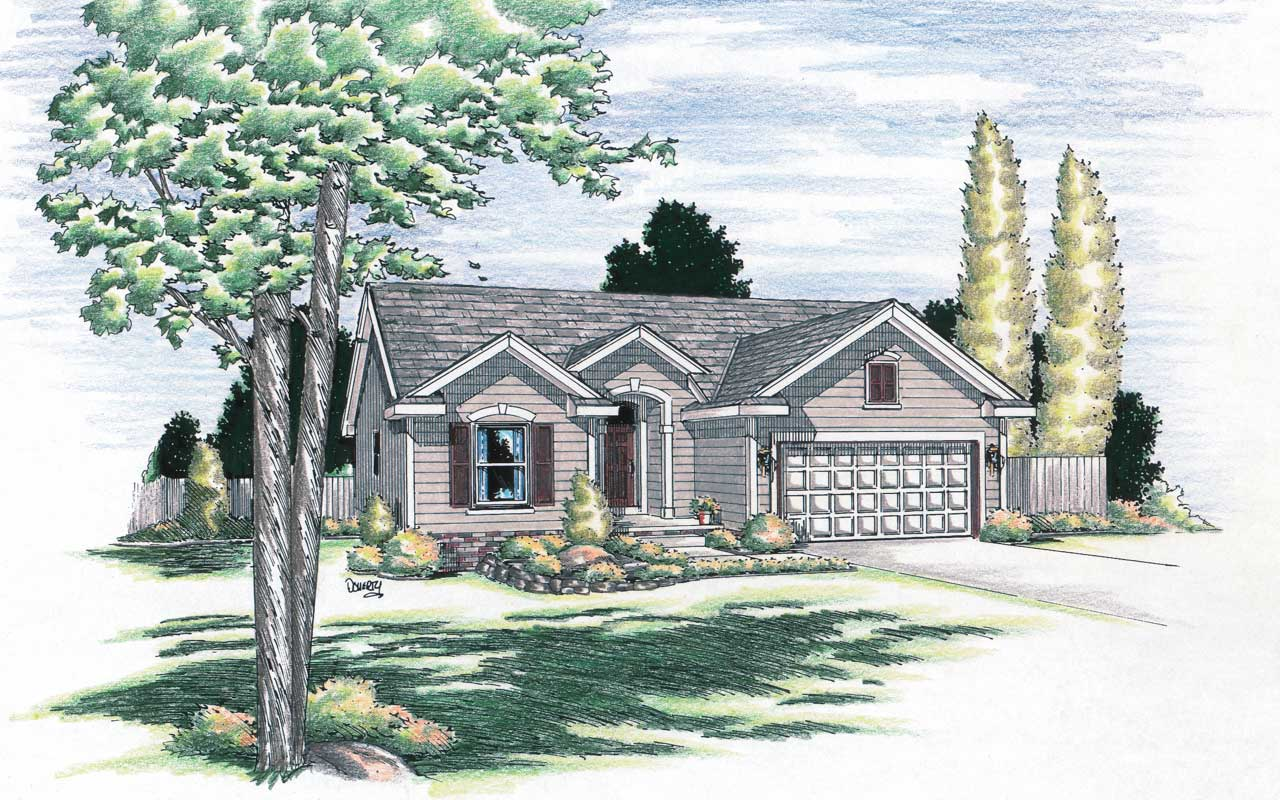 Traditional Style Home Design Plan: 10-959
