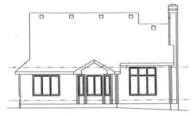 Rear Elevation Plan: 10-960