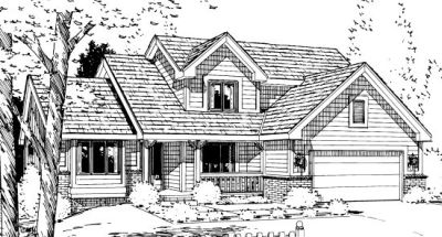 Traditional Style Home Design Plan: 10-961