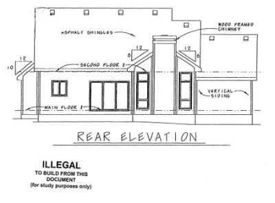Rear Elevation Plan: 10-961