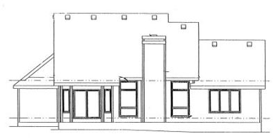 Rear Elevation Plan: 10-962