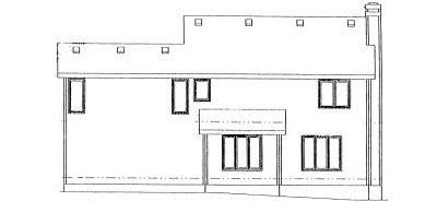 Rear Elevation Plan: 10-964