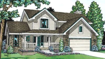 Traditional Style Home Design Plan: 10-965