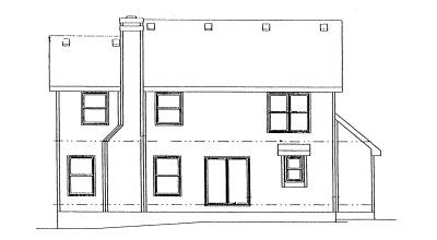Rear Elevation Plan: 10-966