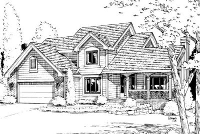 Traditional Style Home Design Plan: 10-969