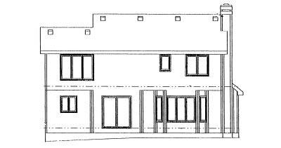 Rear Elevation Plan: 10-970